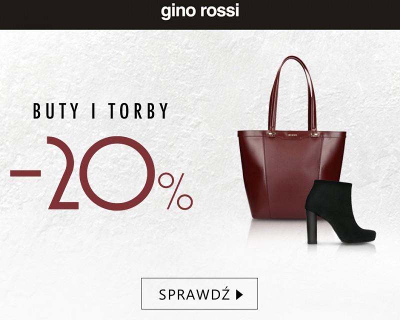 Rabat 20% na buty i torby w Gino Rossi