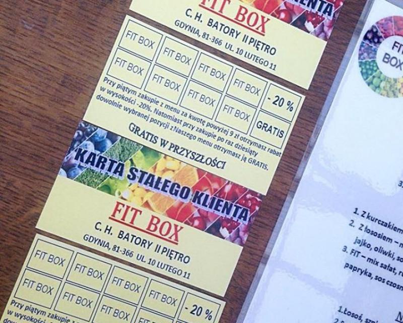 FIT BOX- wprowadza kartę stałego klienta!